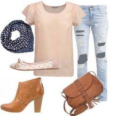 Outfit Rosa pastello e jeans!