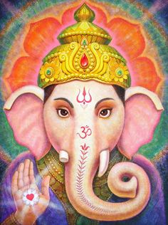 Ganesha's Blessing Painting by Sue Halstenberg - Ganesha's Blessing Fine Art Prints and Posters for Sale