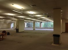 Emptied out, ready for construction to begin on the new College of Innovation & Design