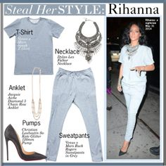 """Steal Her Style:Rihanna"" by kusja on Polyvore"