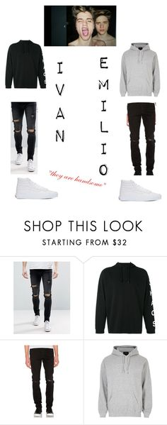 """Martinez Twins"" by rainleigh911 on Polyvore featuring Liquor n Poker, Alix, Neuw, River Island, Vans, men's fashion and menswear"