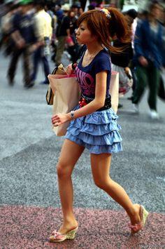 b60de2a111ab Shibuya Girl in Tiered Denim Skirt Más