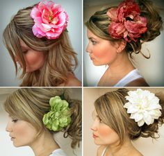 Flowers for your hair in big bold colors! #AdeaEveryday