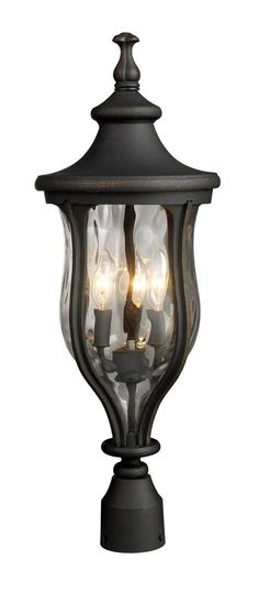 ELK Lighting 42255/3 Grand Aisle 3 Light 26 inch Weathered Charcoal Outdoor Post Light