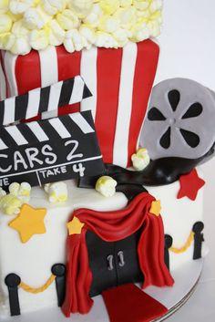 movie night cake Movie Theme Cake, Movie Themes, Sweets Cake, Cupcake Cakes, Food Cakes, Cupcakes, Birthday Parties, Happy Birthday, Birthday Ideas
