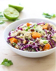 Crunchy Quinoa Power Bowl with Almond Dressing + Whole30 Recipes