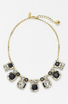 Stunning with a white top! Navy and gold necklace by Kate Spade.