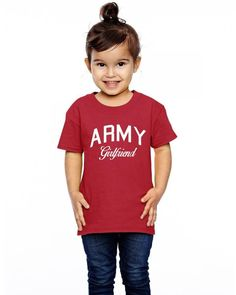 army girlfriend w Toddler T-shirt