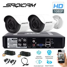 Saqicam 4CH AHD 1080N DVR Security Camera System