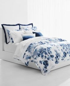 Charlotte Cotton Duvet Cover Set by Laura Ashley Home Blue Comforter Sets, Duvet Sets, Floral Comforter, Blue Bedding, King Duvet Cover Sets, Duvet Covers, Bleu Pastel, Luxury Bedding Sets, Modern Bedding