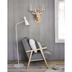 Arredo da parete cervo in legno 65 cm HAROLD