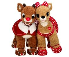 Biild a Bear 2010 Rudolph the Red Nose Reindeer Clarice 18 Plush Soft Toy Stuffed Animal Set * To view further for this item, visit the image link. Rudolph Red Nosed Reindeer, Rudolph The Red, Holiday Gift Guide, Holiday Gifts, Build A Bear Reindeer, Christmas Teddy Bear, Baby Girl Blankets, Reno, Toy Store