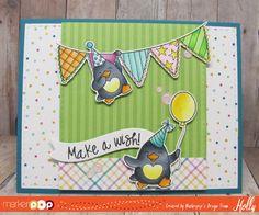 Make a Wish! Birthday Words, Birthday Fun, Mft Stamps, Christmas Cards To Make, Penny Black, Copics, Card Tags, Happy Birthday Cards, Make A Wish