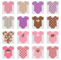Clipart de Bodies de Bebé.