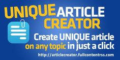 Turn any keyword into ARTICLE!  #content #MakeMoneyOnline  Free and Easy Ways to Get Web…
