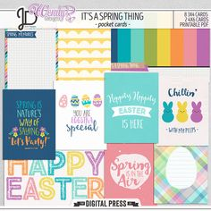 It's a Spring Thing | Printable Pocket Cards by Juno Designs and WendyP Designs