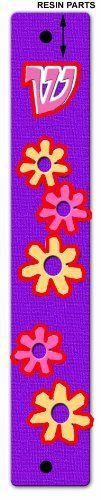 Glow in the Dark Flower Mezuza Cover by Judaica Maven. $14.99. Glow in the Purple Mezuza case with pink and yellow flowers. Glow in the Dark Purple Mezuza case with pink and yellow. Looks great at the doorway of every girls' room