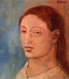 Pablo, Picasso, Retrato de Fernande Olivier 1905, final of the blue period and beginning of the rose period