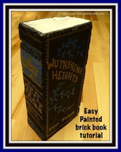Painted brick book is featured in Bowdabra Feature Friday Favorite Five Cool Home Decor and Gift Items.