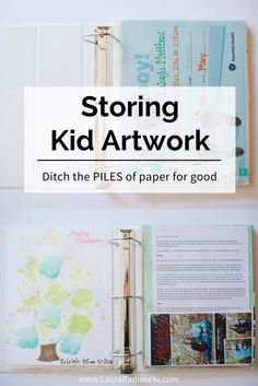 The BEST way to preserve & store kid artwork. Ditch the piles of paper for good!!!