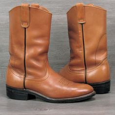 Vintage Red Wing Pull On Leather Boots Made in USA