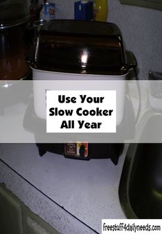 Use your slow cooker all year. Free Stuff, Crockpot Recipes, Crock Pot, Slow Cooker, Healthy Slow Cooker, Healthy Slow Cooker, Crockpot, Slow Cooking