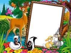 Cute Transparent Kids Photo Frame with Wild Animals Baby Birthday Card, Birthday Frames, Photo Frames For Kids, Disney Frames, Kids Castle, Wall Painting Decor, Bookmark Craft, Frame Background, Frame Clipart