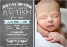 Templates For Baptism Invitation Cards - Party XYZ