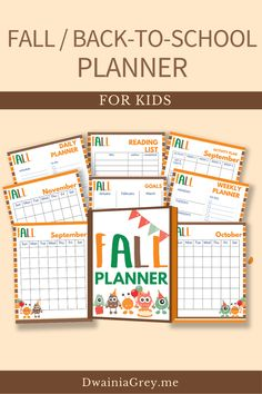 Keep your family organized by planning your family's fall activities. This colorful planner for kids and the whole family to use to plan your autumn and back-to-school. Comes with 2 printable PDF versions and 12+ cover options. Included - Undated Calendar: Aug, Sept, Oct, and Nov - Weekly Planner - Daily Planner - Fall Bucket List - Fall Reading List - Monthly Activity Planner - Indoor and Outdoor Planner - Family Activity Planner - Me Time Planner - Fall Shopping List - Fall Journal Pages Kids Planner, School Planner, Weekly Planner, School Information, Student Goals, Family Organizer, Back To School Shopping, Autumn Activities, Marketing And Advertising