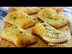 Tuna pies are simple and yummy. They are made with a couple of cans of tuna, some puff pastry from the grocery store, and a few other simple ingredients you . Puff Pastry Recipes, Pie Recipes, Seafood Recipes, Cooking Recipes, Tuna Recipes, Seafood Soup, Cooking Hacks, Cooking Videos, Food Hacks