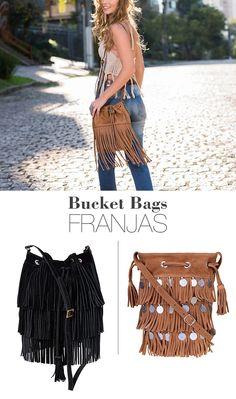 Bucket Bag com Franjas