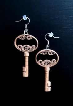 quilling earrings 25 - keys