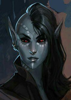 Ebonite Murk She-Elf Sage