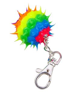 Rainbow Spike Ball Clip | Girls Toys & Crafts Beauty, Room & Tech | Shop Justice
