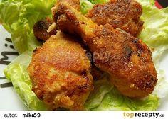 Kuřecí paličky marinované v podmáslí smažené v troubě recept - TopRecepty.cz Kfc, Tandoori Chicken, Chicken Wings, Poultry, Food And Drink, Treats, Snacks, Cooking, Ethnic Recipes