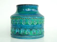 Bitossi Rimini Blue Italy art pottery vase 730 Aldo by Coollect