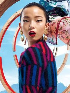 framenoir: xiao wen ju for kenzo accessories fall/winter 2012 ad campaign for more photos & info go here Fashion Shoot, Editorial Fashion, Fashion Art, Fashion Brands, Damir Doma, Fashion Advertising, Print Advertising, Advertising Campaign, Print Ads
