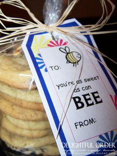 Cute little thank you gift. Use tag and fill bag or basket with Burt's Bees.