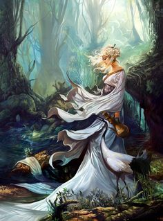 Fantasy girl Crane