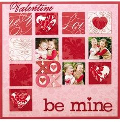 valentine's day scrapbook idea