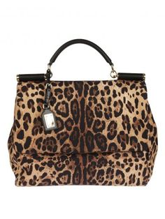 DOLCE & GABBANA Dolce & Gabbana Leopard Print Tote. #dolcegabbana #bags #shoulder bags #hand bags #leather #tote #cotton #