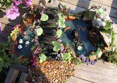 SALE OOAK Koi Pond Fairy Gardens Diorama's by BeverlyJaneCreations