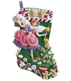 Bucilla Sugar Plum Fairy Stocking Felt Applique Kit-18'' Long at Joann.com