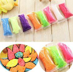 40 g / 8 warna / banyak buatan tangan DIY polimer lembut busa pemodelan tanah liat Set salju lumpur mutiara Playdough pendidikan plastisin mainan untuk anak-anak