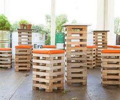 1000 ideas about Pallet Bar Stools on Pinterest