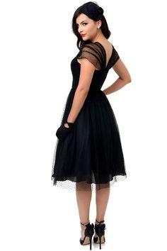 dd123b46 Unique Vintage Black Swiss Dot Garden State Mesh Dress 50s Dresses For  Sale, Vintage Dresses