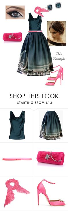 """Un""Teal"" Next Time.."" by emalenf ❤ liked on Polyvore featuring Clips, Chicwish, Vera Bradley, Brian Atwood, Blue Nile and pinkandteal"