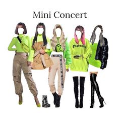 OUTFITS Neon Green Girl Group Wonderful Neck tie Jokes Here are some interesting tie jokes that shal Kpop Fashion Outfits, Stage Outfits, Korean Outfits, Dance Outfits, Cute Outfits, Neon Green Outfits, Kpop Concert Outfit, Look Girl, Long Skirts For Women