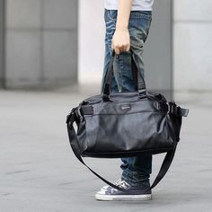 iCeinnight 2017 Men's Travel Bags PU Leather bag for man Brand Luxury Style Men's Messenger Bag Large Capacity Men Bags brown