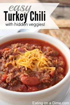 Try our Delicious ground turkey chili recipe. I think you will be surprised how good it actually is. PLUS... we have hidden veggies in this recipe that the kids won't even notice.